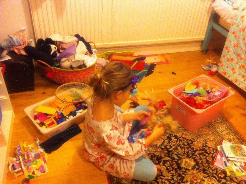 Playing not tidying