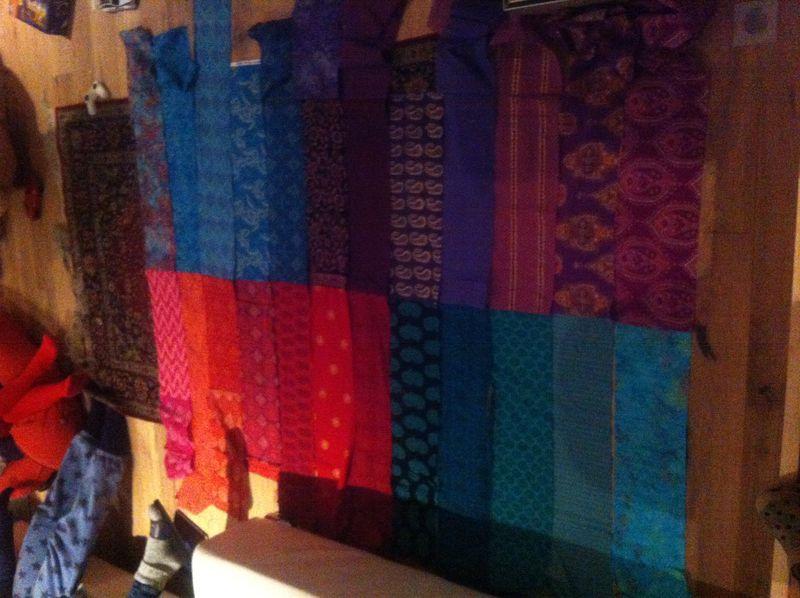 Indian lap quilt